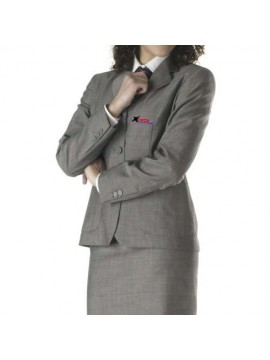 grey color air hostess coat And Skirt